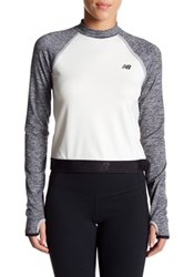 New Balance Sport Style Cutout Crop Pullover Gray