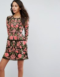 Needle And Thread Embroidery Rose Prom Dress Washed Black