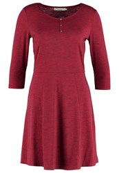 Twintip Jersey Dress Red Melange Mottled Bordeaux