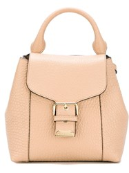 Burberry 'Small Belmont' Buckle Backpack Nude And Neutrals
