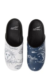 Dansko Twin Pro Embroidered Clog Day And Night Leather