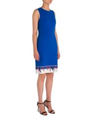 Emilio Pucci Bamboo Printed Dress Royal Blue