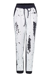 James Lakeland Sequin Trousers Black White
