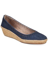 Easy Spirit Derely Wedges Women's Shoes Navy