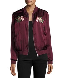 Romeo And Juliet Couture Floral Embroidered Bomber Jacket Olive