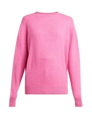 The Elder Statesman Round Neck Cashmere Sweater Pink