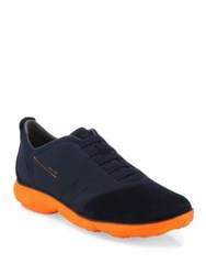 Geox Nebula Slip On Sneakers Brown Blue Navy Orange