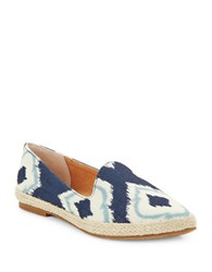 Seychelles Browse Fabric Point Toe Flats Blue