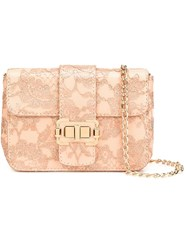 Monique Lhuillier Medium 'Bianca' Shoulder Bag Pink Purple