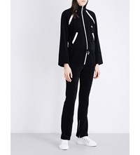 Off White C O Virgil Abloh Flared Cotton Towelling Tracksuit Black White