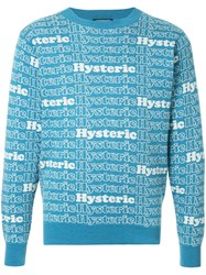 Hysteric Glamour Intarsia Jumper Blue