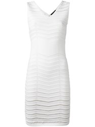 Twin Set Banded Fitted Dress White