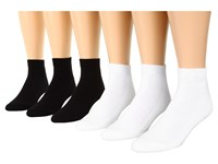 Ecco Socks Ankle Solid W Cushion White Black Men's Crew Cut Socks Shoes