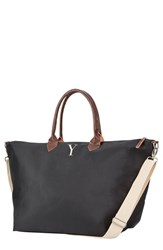 Cathy's Concepts Monogram Oversized Tote Grey Black Y