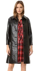 Marc Jacobs Bonded Faux Leather Coat Black