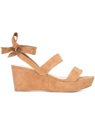 Alexandre Birman 'Luma' Wedge Sandals Brown