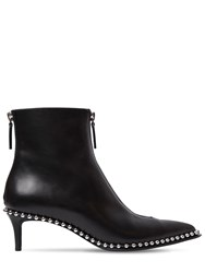 Alexander Wang 50Mm Eri Low Studded Leather Ankle Boots Black