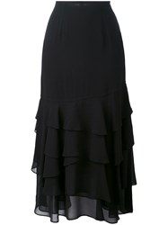 Opening Ceremony Mercer Layered Skirt Women Silk Polyester 2 Black