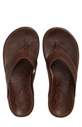Olukai Men's Kohana Flip Flop Toffee Toffee Leather