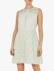 Ted Baker Buttercup A Line Geo Lace Tunic Green Mint