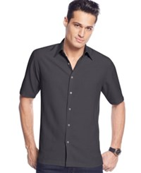 John Ashford Big And Tall Short Sleeve Textured Shirt