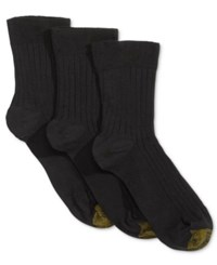 Gold Toe Women's 3 Pk. Non Binding Crew Socks Black