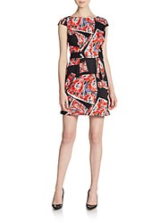 French Connection Riot Rose Dress Riot Red