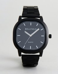 Bellfield Square Dial Watch In Black