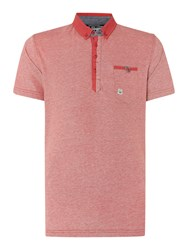 Duck And Cover Plain Polo Regular Fit Polo Shirt Red