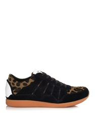 Dolce And Gabbana Suede And Calf Hair Low Top Trainers