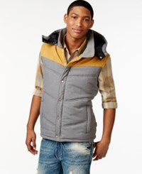 Sean John Colorblocked Vest Medium Grey