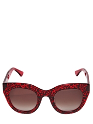 Thierry Lasry Deeply Cat Eye Acetate Sunglasses Red Black