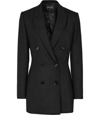 Reiss Miki Double Breasted Blazer In Black