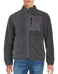 Roamers And Seekers Divide Sherpa Fleece Zip Front Jacket Black Pepper