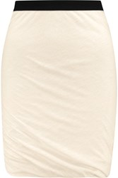 American Vintage Hot Springs Cotton And Modal Blend Jersey Skirt White