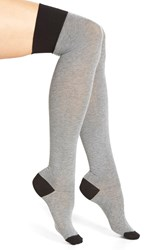 Emilio Cavallini Hosiery Emilio Cavallini Cotton Blend Over The Knee Socks Grey Black