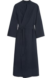 Joseph Laurence Crepe Wrap Midi Dress Midnight Blue