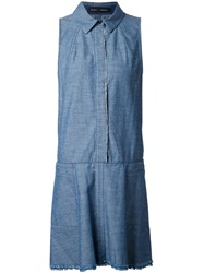 Proenza Schouler Chambray Shirt Dress Blue