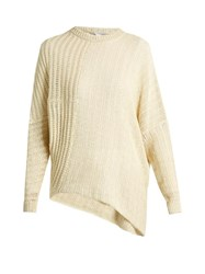 Stella Mccartney Asymmetric Loose Knit Linen Sweater