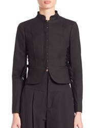 Red Valentino Lace Up Blazer Black