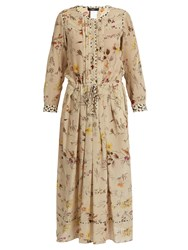Max Mara Vivy Dress Beige Print