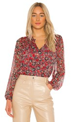 Parker Dauphine Blouse In Pink. Bali Floral