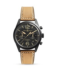 Bell And Ross Br 126 Heritage Chronograph 41Mm Black Tan
