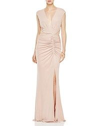 Abs By Allen Schwartz Ruched V Neck Gown Vintage Rose