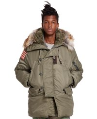 Denim And Supply Ralph Lauren Down Military Snorkel Jacket Tent Green