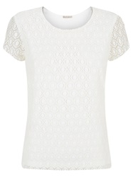 Planet Circle Lace Top Ivory