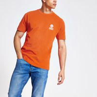 Franklin And Marshall River Island Orange Logo T Shirt