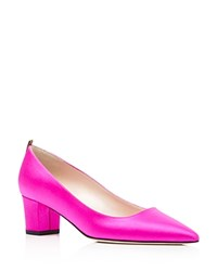 Sarah Jessica Parker Sjp By Katrina Satin Pointed Toe Pumps Candy Pink
