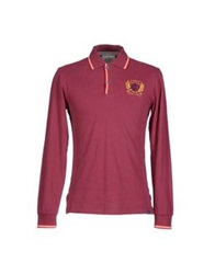 Jaggy Polo Shirts Maroon