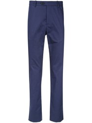 Gieves And Hawkes High Waisted Chinos Blue